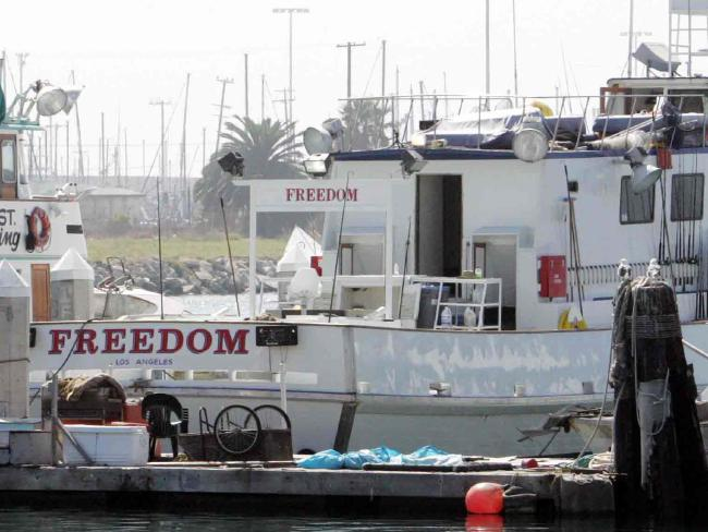 The freedom Fishing boat which Patrick McDermott was on when he went missing. Picture: Karen DoddSource:News Limited