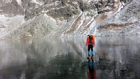 Viral Video : Walking On Crystal Clear Ice