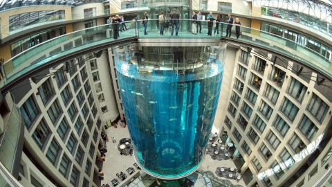 82-Foot Tall Aquarium with Elevator Puts Your Fish Bowl to Shame