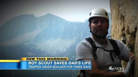 Boy Scout hikes 13 miles to save badly injured dad