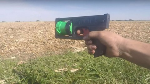 Man 3D Prints Working Revolver That Uses Rubber Band and Nail to Fire Bullets