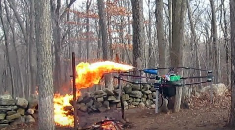 Flamethrower Attached to Drone Roasts Turkey