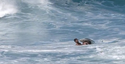 Dramatic Video Shows Bodyboarder Saving Life of Surfer in Relentless Waves
