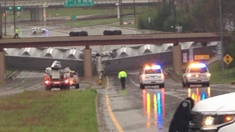 Wicked Thunderstorm Winds Blow 64 Train Cars From Overpass
