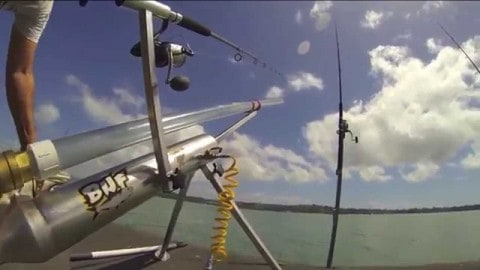 Beach Fishing Cannon Blasts 300 Yards, Wait Until You See What it Catches