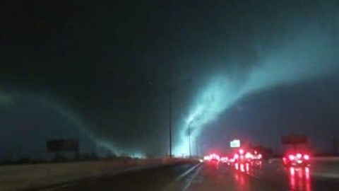 Terrifying Video of Massive Night Tornado Goes Viral