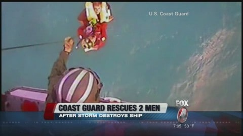 Video: U.S. Coast Guard Rescues Two in 20-foot seas in Gulf of Mexico