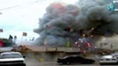 Destroyed in Seconds- Fireworks Accident Caught on Tape