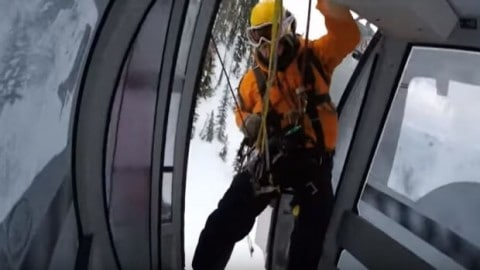 Dramatic Helicopter Rescue Morphs Into 'Insane Ride' at Ski Resort