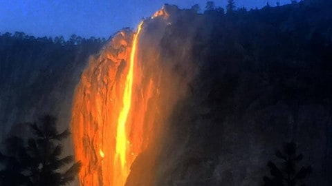 'Firefall' at Yosemite Mesmerizes Visitors once a Year