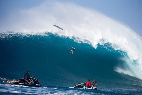 Surfer Falls 40-Feet Off Massive Wave in Epic Wipeout Video