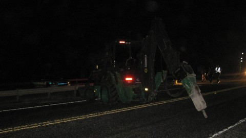 Sheriff's Chase Out of Control Backhoe on Seven Mile Bridge