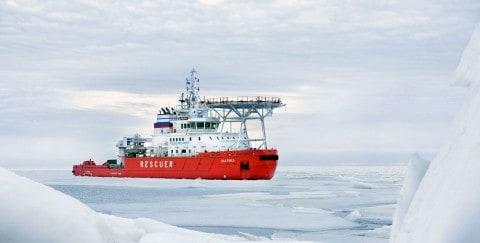 Baltika 'Oblique' Icebreaker Breaks Ice Sideways