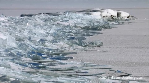Lake Superior Ice Stacking Creates Out of this World Sight
