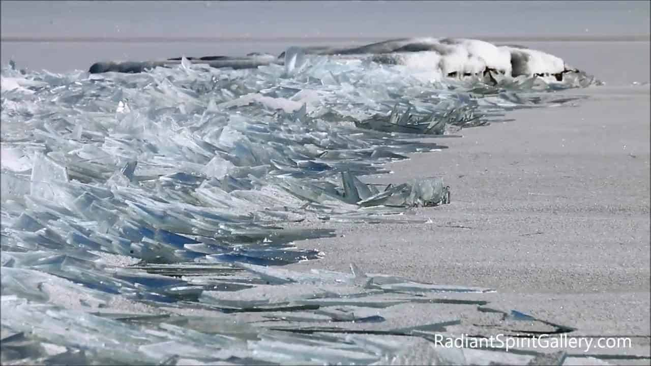 Lake superior ice stacking creates out of this world sight for Lake superior ice fishing
