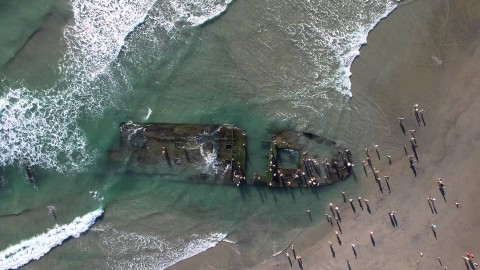 8 Decades Later, Shipwreck Emerges Off California Coast