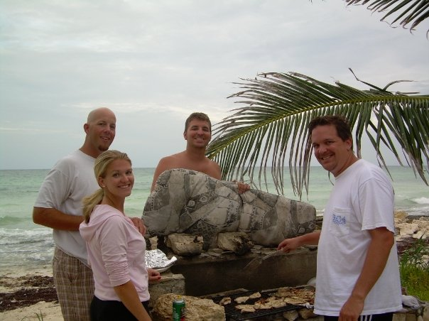 Grilling on the beach. Paradise found.