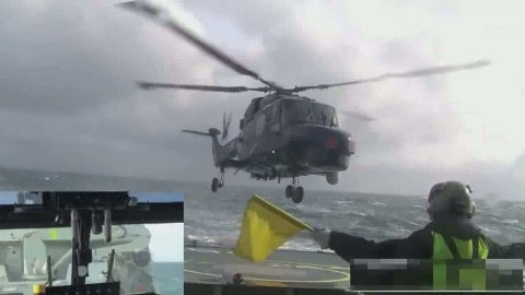 Watching Fearless Pilot Landing Helicopter in Rough Seas Will Make You Sweat Bullets