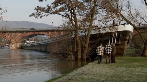 Drunk Captain Runs Ship into Bridge Then Smashes into River Bank