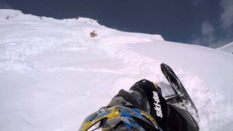 Snowmobiler Lucky to be Alive After Avalanche