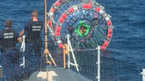 Bubble Runner Guy Arrested During 'Ocean Run' After Ignoring Coast Guard's Warning