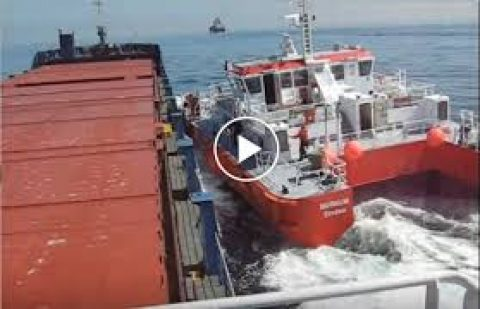 Pilot Boat Drives Like a Maniac, Rams Much Larger Ship on Video