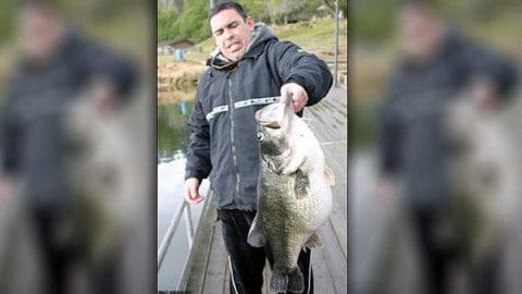 25-Pound, Million Dollar Largemouth Bass Caught, Shatters Record; DQ'ed Because Foul Hooked