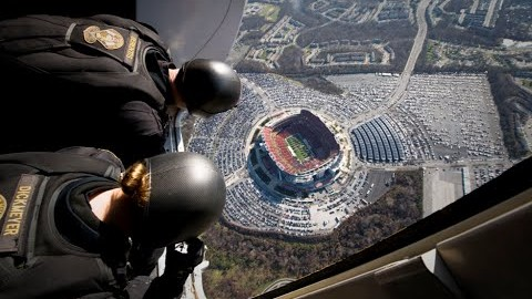 Normal People Walk Into Stadiums, Navy Seals Parachute Their Way In