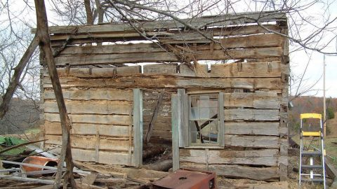Retiree Discovers Cabin from the 1830's; See His Awe-Inspiring Fixer Upper