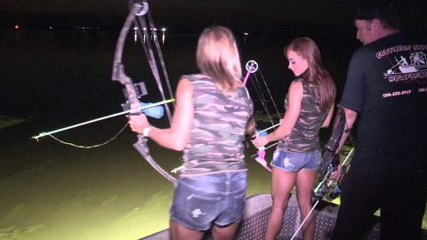 Night Bowfishing in Louisiana is Like Modern Day Dinosaur Hunting