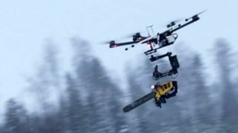 Chainsaw Drone Is Either Your Worst Nightmare, or the Greatest Invention Ever