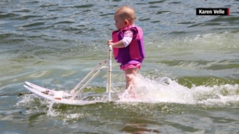 At 6 Months Old, World's Youngest Water Skier is Can't Miss TV