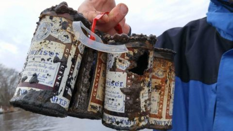 Fishermen Reel in 60-Year-Old 6-Pack of Cold(ish) Beer