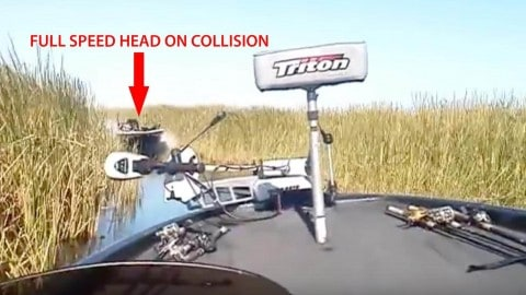Head On Collision at Full Speed Between Two Bass Boats