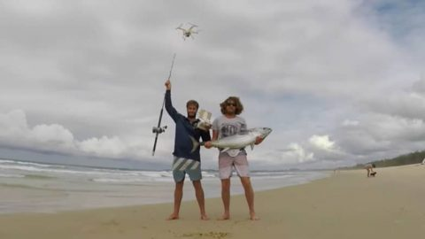 Drone Fishing For Tuna From a Beach Leads to a Can't Miss Video and Catch