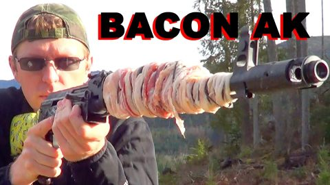 Guy Cooks Bacon on the Barrel of His AK-47