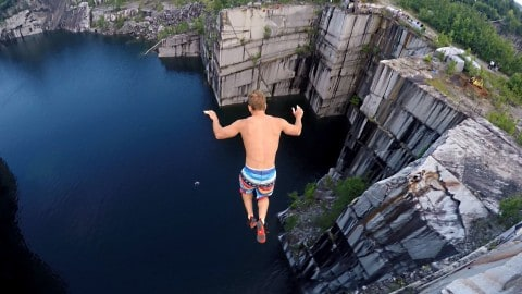 Cliff Jumping Off a 110 Foot Drop