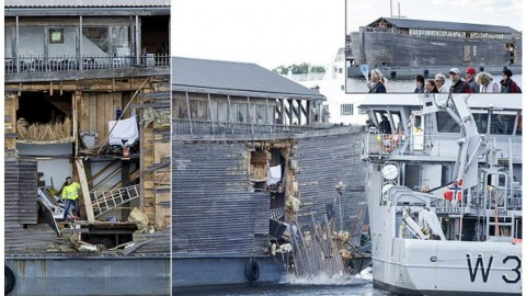 Noah's Ark Replica, Johan's Ark, Crashes into Moored Coast Guard Vessel