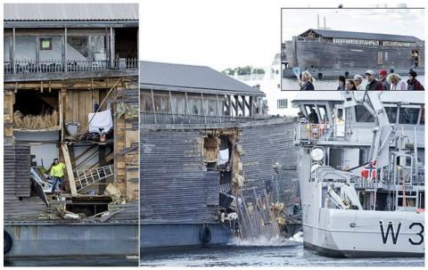 Noah's Ark Replica, Johan's Ark, Crashes into Moored Coast Guard Vessel