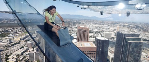 Glass 'Sky-Slide' Sits 1,000 Feet Above Ground, Will Make You Think You're About to Fly Off a Building