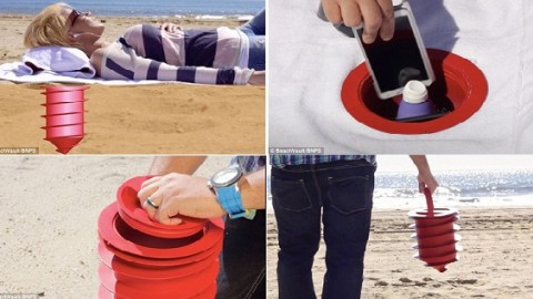 'Beach Vault' Designed So You'll Never Lose Valuables at the Beach Again