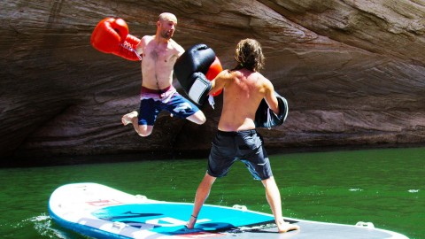 Epic Paddle Board Boxing Video Hits 30 Million Views for Pure Insanity