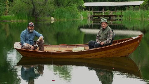 Words Aren't Needed to Communicate on Nick Offerman's 'Father's Day' Fishing Trip