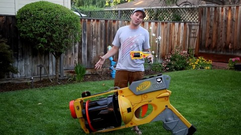 Guy Builds World's Largest Nerf Gun and It's What Your Inner Child Deserves