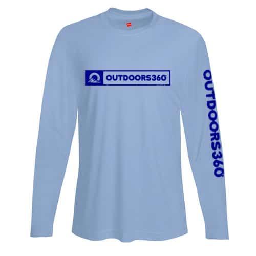 Outdoors360 light blue shirt