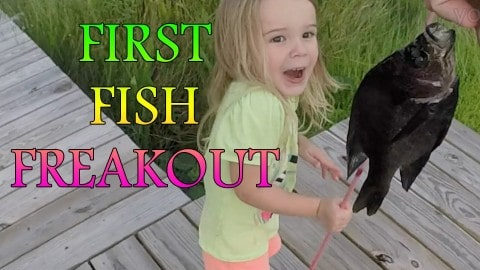 Little Girl's Reaction to Catching First Fish Will Leave You Smiling