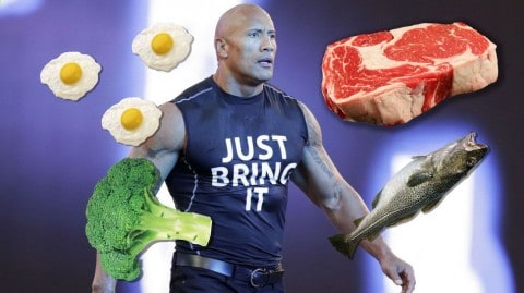 "Dwayne ""The Rock"" Johnson Eats Enough Fish Everyday To Feed A Small Army"
