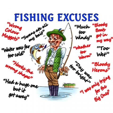 13 Fishing Excuses That Any Fisherman Can Use