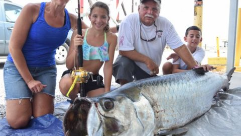 188lb Junior Female World Record Tarpon Caught, Pending Approval
