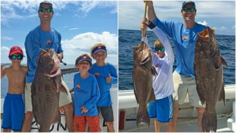 World Record Grouper Caught By 9-Year-Old Boy